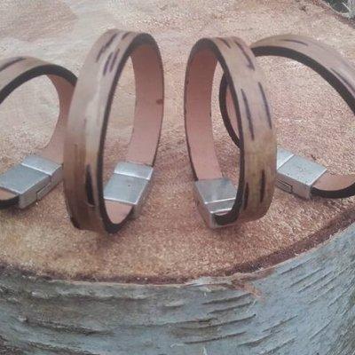 Bracelet écorce bouleau