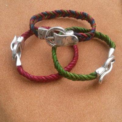 Bracelet Tressé en cuir