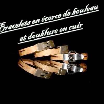Bracelet cuir et bouleau 2