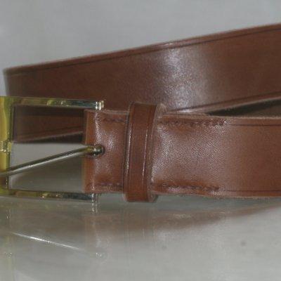 Ceinturon cuir marron chocolat artisanal