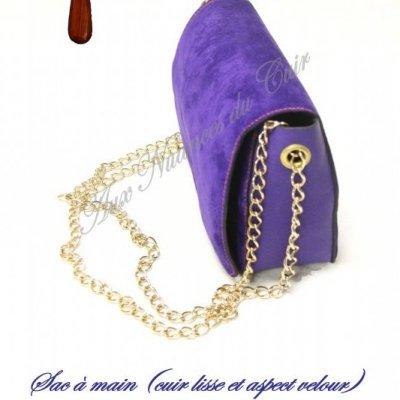 souple besace FRIDAY CYBER BLACK Sac en MONDAY violet cuir wICCRdq
